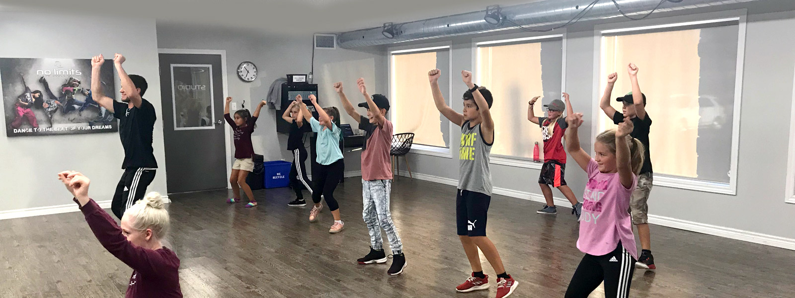 Dance class at No Limits Youth, Belleville Quinte